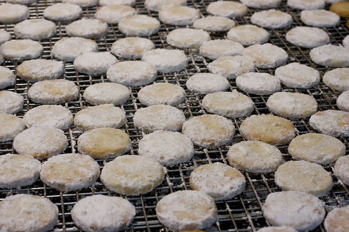 Poppy Seed Cookies with Powdered Sugar