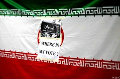Where is my Vote ? ~     (h de c) Tags: paris france hope democracy support iran protest anger iranian dictator elections leshalles manif manifestation dictateur  chtelet  soutien   ahmedinejad fontainedesinnocents   rassemblement    moussavi  iranien islamicrepublicofiran   dmocracie     whereismyvote
