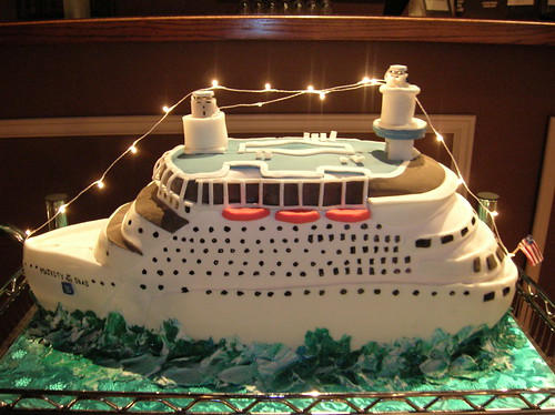 Cruise Ship Cake Decorations