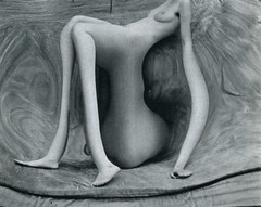 Photo by Andr Kertsz, 1932 (sarcoptiform) Tags: woman house paris nude fun mirror photo 1930s women bend surrealism dream surreal august run warped drip le melt dreamlike sourire andr distort sander distortions gravure kertsz