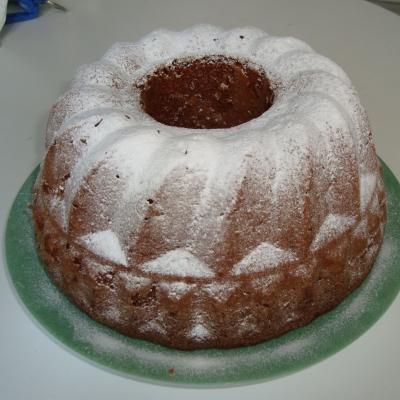 kouglof au cacao et aux pommes
