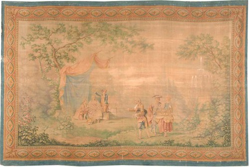Antique Tapestry Rug #3096 by Nazmiyal Collection
