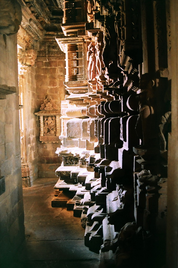 internal passage tantric temple. India, archive, film 23570021 1