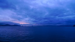Inland Sea after a storm (kamoda) Tags: sea storm rain japan clouds evening spring shikoku takamatsu inland   2010  setonaikai