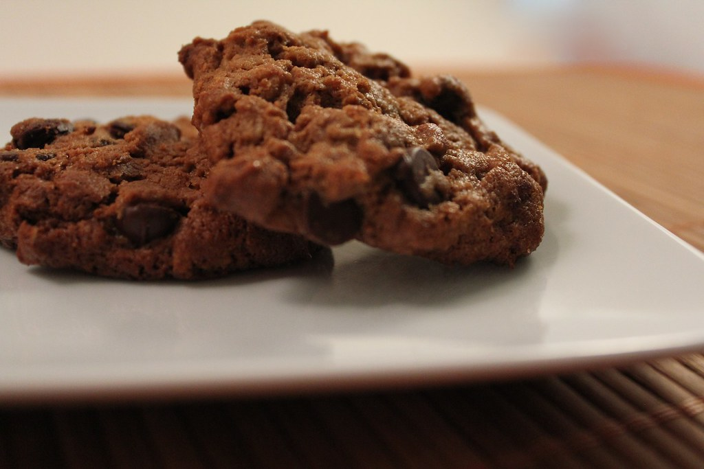 Flourless Granola Sunflower Seed Butter Chocolate Chip Cookies