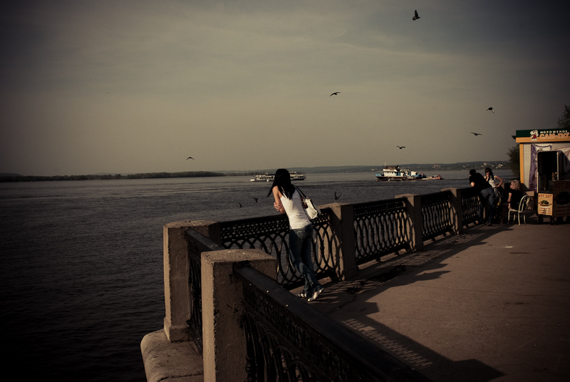 Girl on the embankment