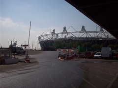 London 2012 Olympic Stadium (Andy Wilkes) Tags: roof building london cup cake danger work landscape site construction crane stadium centre land olympic olympics scape stratford 2012 aquatics londonist