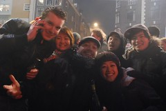 The New Years Crew! (kalishakti) Tags: netherlands amsterdam fireworks newyears nieuwmarkt waagsociety thewaag