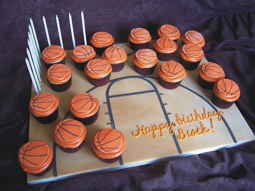 Brock's basketball cupcakes
