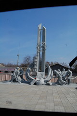 Chernobyl Monument (bousinka) Tags: nuclear ukraine disaster april 1986 2010 chernobyl