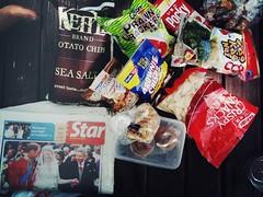 Snacks brought to Pulau Besar