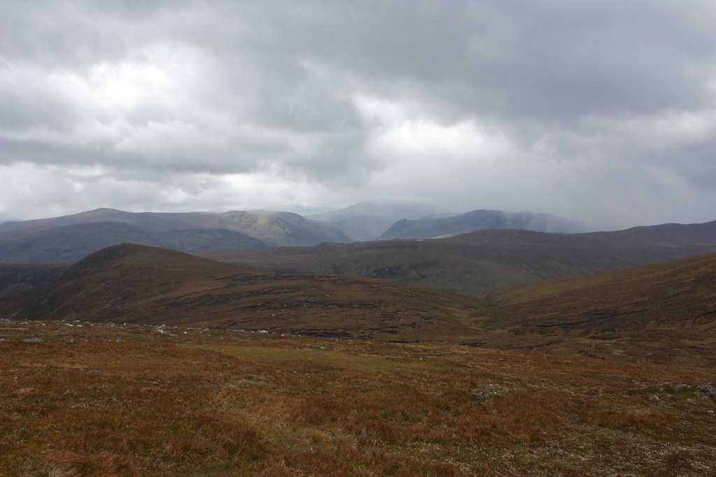 River Meig and the hills at the head of Strathconon