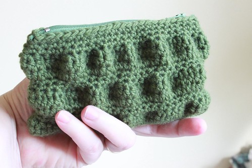 Ruffled Clutch purse