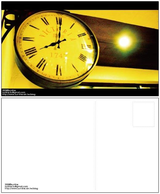[2008 postcard]時間
