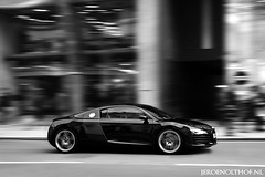 Audi R8 (Jeroenolthof.nl) Tags: pictures road park uk england bw white motion black green london beautiful car modern night photography 50mm grey lights hotel is moving amazing nice movement jeroen nikon driving view shot britain circus united rear great d70s picture kingdom piccadilly automotive knightsbridge explore if ritz paparazzi kensington lovely nikkor f18 18 audi panning zwart wit rs exclusive s4 brompton s5 r8 zw s6 s8 automotion q7 q5 olthof wwwjeroenolthofnl jeroenolthofnl jeroenolthof