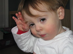 eye rubbing (gobosgirl) Tags: haircut chickenpox gibson babyboy