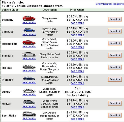 Kauai Car Rental Prices