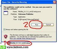 1 การติดตั้งโปรแกรม FileZilla