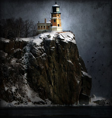 Adjust Your Sail... (karenmeyere) Tags: winter sea lighthouse snow water minnesota boats lakes bridges waterfalls northshore fountains duluth lakesuperior splitrocklighthouse beaverbay bysea golddragon platinumphoto frhwofavs memoriesbook damniwishidtakenthat karenmeyere karenhunnicutt karenmeyer michaelangelosbox karenhunnicuttphotographycom orifbysea