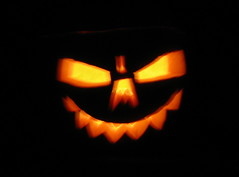 Grrrrrr (rachaellazenby) Tags: orange black halloween face fire golden scary october gothic horror grin 13 allhallowseve