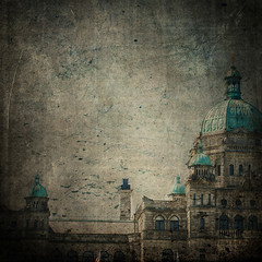 Parliament Blues (the lonely pixel) Tags: canada texture photoshop etching bc antique teal parliament victoria government oldbuilding victoriabc parliamentbuildings texturesforlayers miasbest thelonelypixel