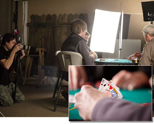 Behind the Scenes - Poker Party Photo Shoot