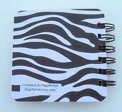 Zebra Animal Print Post It Holder