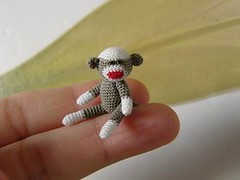 AppleJack (MUFFA Miniatures) Tags: cute monkey miniature funny doll crochet sockmonkey amigurumi dollhouse muffa cdhm threadanimals threadminiatures
