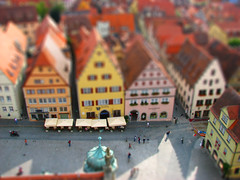 From the tower (filippo rome) Tags: photoshop germany fake rothenburgobdertauber tiltshift