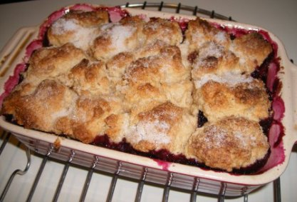 Blueberry, Raspberry, and Strawberry Cobbler from The New Basics