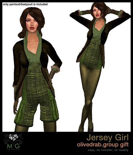 [MG fashion] Jersey Girl (olivedrab.group gift)