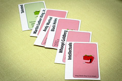 Odd One Out (CarbonNYC) Tags: game cards board card boardgame cardgame talented applestoapples carbonnyc greenapplecard redapplecards