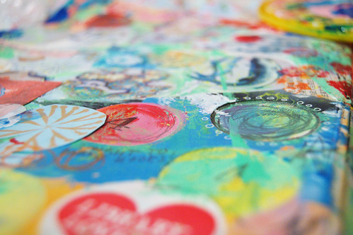 Art Journal detail circles (copyright Hanna Andersson)