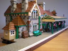 corfe castle station (bricktrix) Tags: station train lego swanage corfecastle legotrain corfecastlestation legostation