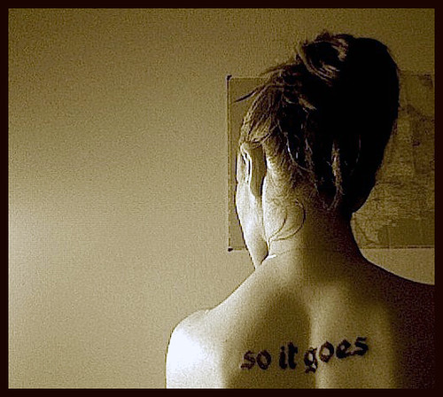 """So It Goes"" Tattoo- RIP Kurt Vonnegut. This is my first tattoo."
