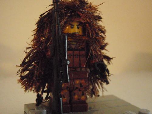 Lego Sniper - Ghillie Suit custom minifig