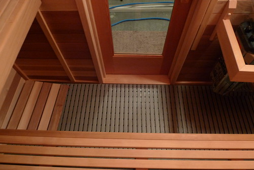 Our finished sauna