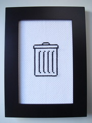 Trash (benjibot) Tags: apple computer mac crossstitch crafts icon