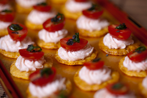 sushi cracker canapes