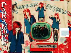 icaughtmyself~ (Ana KarenFl) Tags: red music art colors rock design tv riot twilight punk williams photoshoot cd stripes group band josh mtv dots soundtrack hayley blend farro paramore