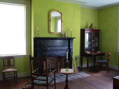 green living room milk paint in historic indiana home by room lust