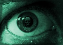 Eye death (@Doug88888) Tags: pictures holland green eye netherlands death skull image creative picture gimp commons denhaag images future escher doug88888