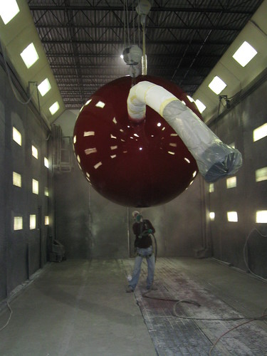 Spraying the bottom