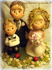 Cake topper - Federica (marytempesta) Tags: cake brides grooms toppers caketoppers weddingcaketoppers mmilikeit