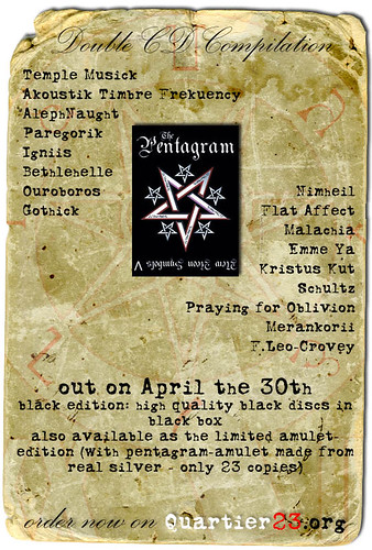 The Aeon Symbols 5 - The Pentagram (flyer)