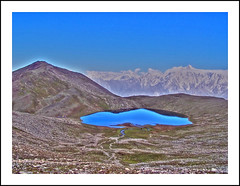 rush lake from rush peak (TARIQ HAMEED SULEMANI) Tags: yaks tariq nagar northernpakistan ladyfinger hoper ulterpeak ulter rushlake hunzapeak concordians sulemani lakesofpakistan rushlakrtrek rushpharilake