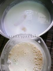 preparando la crema