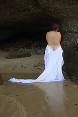Trash The Dress Series 2 (Ommlette) Tags: beach water train bareback bride waves weddingdress satin 1980s ttd catherinehillbay trashthedress canon40d bridesbehavingbadly