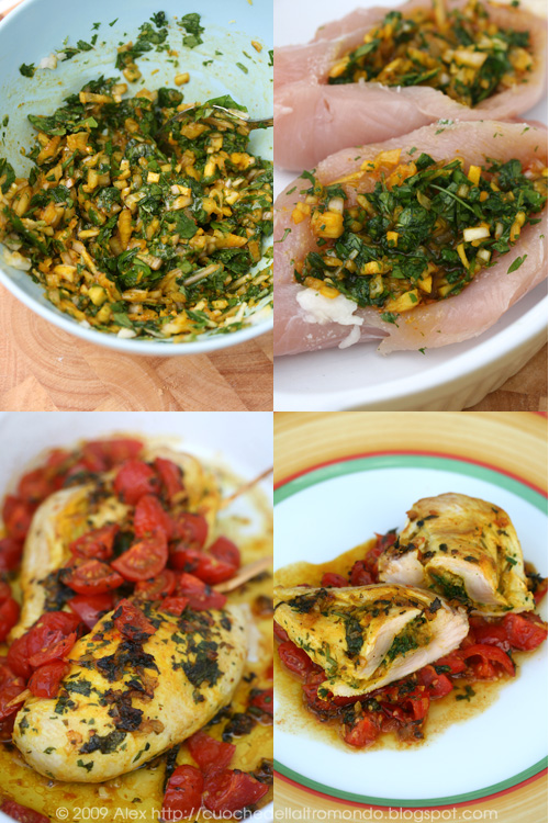 Pollo in chermoula stitch