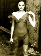 brooklyn 64 (Mike Krukowski) Tags: nyc roof ny newyork rooftop fashion brooklyn nude nicole dress williamsburg reddress sheer